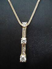"14K Past Present Future Pendant (1/2 CTW Diamond) with 18"" Sq. Wheat Chain (14K)"