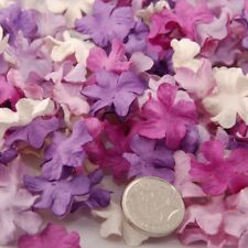 Shades Of Purple And White Mini Mulberry Paper Blooms Flowers Pbc160