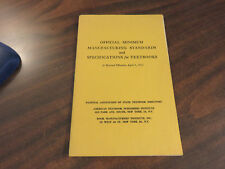 Official Minimum Manufacturing Standards and Specifications for Textbooks 1963