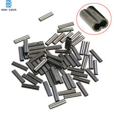 300pcs Double Barrel Crimping Sleeves 100% Brass Copper Tube Connector 0.8-1.8mm