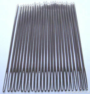 25 x Nickel Plated Tapestry Needles Without Point Size 18 Hand Sewing