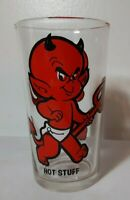 70s Vintage Pepsi Collector series Drinking Glass Harvey Cartoon HOT STUFF Devil