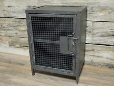 Vintage Industrial 1 door Cabinet bedside Distressed chest cabinet