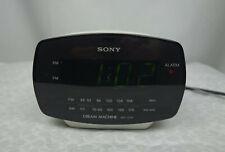 Sony Dream Machine ICF-C111 AM/FM Digital Alarm Clock Radio White Tested Works
