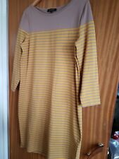Jaeger Yellow And Beige Striped Dress Size L