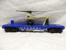 POSTWAR LIONEL 3419 OPERATING HELICOPTER FLAT CAR, C-7 EXCEL, WORKS FINE