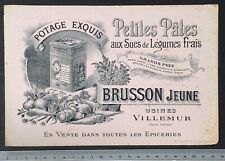 Buvard Brusson / Potage / Soupe / Légume / Villemur / Grands Prix / Blotter