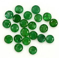 1.84 CTS Natural Emerald Round Cut 3.50 mm Lot 11 Pcs Untreated Loose Gemstones