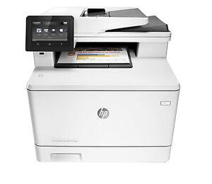 HP LaserJet Pro M477fdn Farblaser-Multifunktionsdrucker - LAN USB (CF378A)
