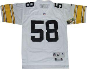 Pittsburgh Steelers Jack Lambert WhiteThrowback Reebok Jersey NEW SMALL 7072A
