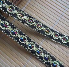 3 yd Vintage Colorful Cotton Lace Trim Wedding Dress Ribbon Applique DIY Sewing