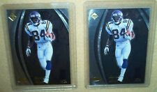 Randy Moss -1998 Collector's Edge Masters rookie card #95 lot (2),#/5000 + /3000