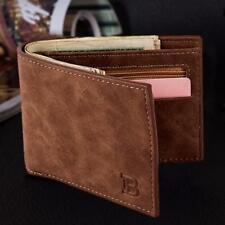 Retro Mens Bifold Leather Slim Trifold Wallet Credit/ID Card Holder Coin Purse J