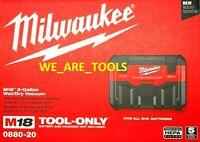 NEW IN BOX Milwaukee 0880-20 Cordless Vacuum M18 2 Gal Wet/Dry HEPA 18 Volt Vac
