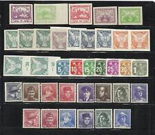 CHECOSLOVAQUIA. Bonito conjunto de 37 sellos nuevos 1º Centenario.