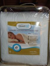 NIP BEAUTYREST HEATED MATTRESS PAD TWIN DELUXE winter warm