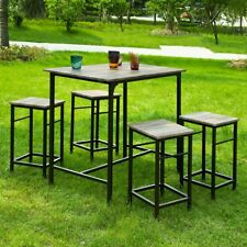 SoBuy® Kitchen Dining Patio Outdoor Bar Furniture Set Table & Stools,OGT11-N,UK