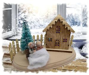 Lichterhaus Weihnachtshaus Winterkinder Winterdorf LED Advent OMA OPA GROßELTERN