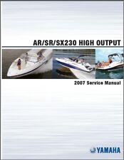 Yamaha AR230 / SR230 / SX230 H.O. Jet Boat Service Manual CD --  AR SR SX 230 HO