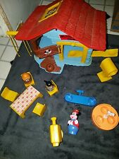 VINTAGE 1976 HASBRO ROMPER ROOM WEEBLES MICKEY MOUSE CLUBHOUSE - & CAMPER CHAIRS