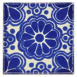 Eldora - Handmade Mexican Ceramic Talavera Small 5cm Tile Ethically Sourced