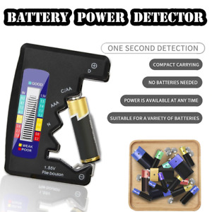 Digital LCD Capacity Battery Detector C D N AAA AA 1.5V Button Cell Universal