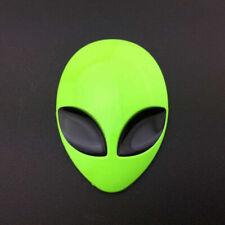 1pc Full Metal 3D Alien Head Auto Car Sticker Fender Badge Emblem Decals Green