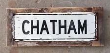 Chatham Cape Cod Lighthouse Beach Ocean Vintage Style Framed Sign Home Decor