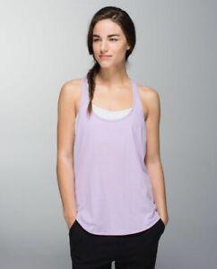 Lululemon 105F Silver Heathered Pretty Purple sleeveless tank top women's 8 US