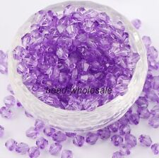 4MM 6MM 500pcs Loose Glass Crystal Bicone AB Spacer Beads For Jewelry Making DIY