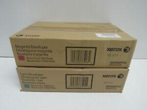 LOT OF 2! GENUINE XEROX 005R00743/005R00744 DEVELOPER