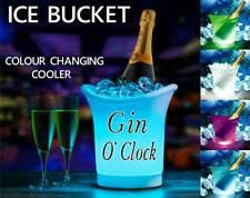 PERSONALISED GIN GIFT SIGN PROSECCO WINE COOLER, ICE BUCKET LED LIGHTS UP