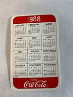 Coca-Cola 1988 Pocket Calendar Advertising Memorabilia