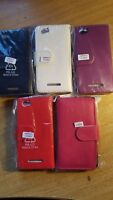 Book, wallet style PU leather flip phone case, cover to fit Sony Xperia M C1905