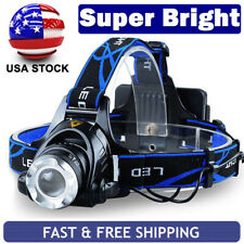 Rechargeable Tactical 350000LM T6 LED Headlamp 186*50 Headlight Head Torch Lamps