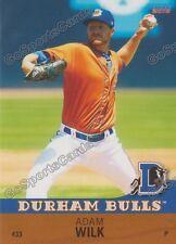 2016 Durham Bulls Adam Wilk RC Rookie Tampa Bay Ray