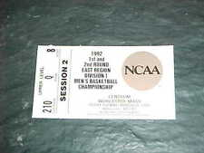 1992 NCAA Championship Basketball Ticket East Regional Kentucky Wildcats