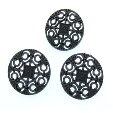 """12Pcs 3/4"""" Antique Silver Hollow Flower Metal Buttons Fit Sewing Craft 20.0mm"""