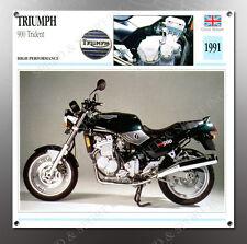 VINTAGE Triumph 1991 900 Trident IMAGE BANNER NOS IMAGE REPRODUCTION
