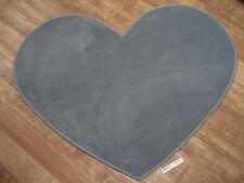 6053 günstig Herz Teppich Kettelteppich eisblau Kräuselvelours blau Herzform