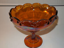 "Carnival Indiana Glass Tear Drop Pattern 8"" Tall 8"" Diameter"