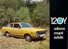 Datsun Nissan 120Y Sunny 1974-75 UK Market Sales Brochure Saloon Coupe Estate