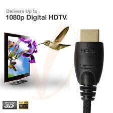 NEW List 1.83M 6FT w/Nylon Net 3D Premium HDMI v1.4 3D HighSpeed Ethernet cable