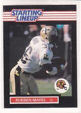 1989 Rueben Mayes - Kenner Starting Lineup Card - New Orleans Saints - Vintage