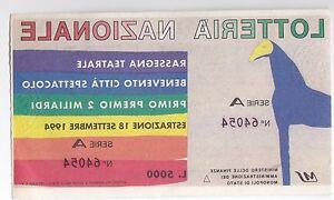 BIGLIETTO DELLA LOTTERIA NAZIONALE 1994  4-160