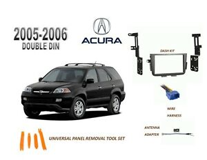NEW ACURA MDX 2005-2006 Car Stereo Double DIN Dash Kit, with Wire Harness