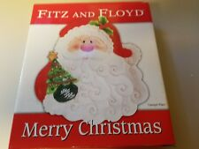 Fitz and Floyd Christmas Santa Canape Plate
