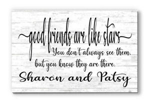 Personalized Good Friend Sign Rustic Shelf or Wall Décor Housewarming Gift Idea