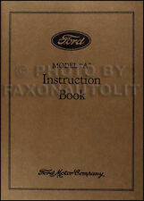 1931 Ford Model A and AA Owners Manual 31 Car and Truck Instruction Guide Book