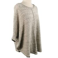 Phase Eight Light Grey Blue Flecked Round Neck Batwing Jumper Size M/L 14 16 18